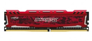 RAM DDR4 BALLISTIX 8GB 2400 RED