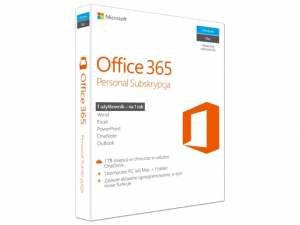 Microsoft Office 365 Personal PL P2 1 rok 1 PC/Mac